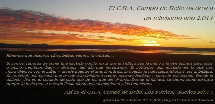 Felicitación del CRA Campo de Bello