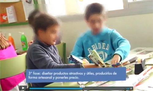 Vídeo sobre el mercadillo de cooperativas escolares en Zaragoza, junio de 2005.