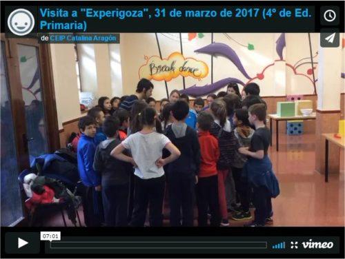 El video muestra la visita a Experigoza